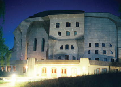 Another view of the Goetheanum, centre of Rudolf Steiner's modern mystery movement, 'Anthroposophy'.